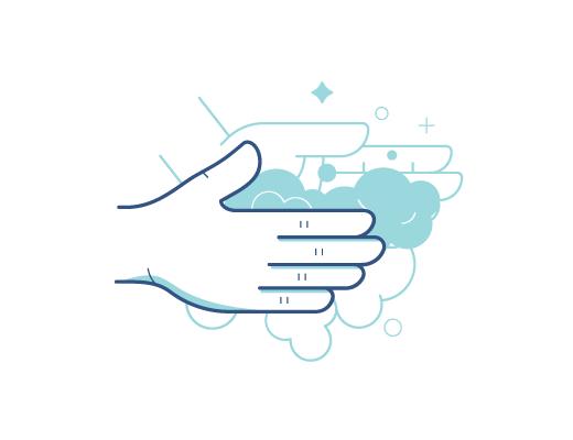 Lavarse las manos antes de manejar los contactos