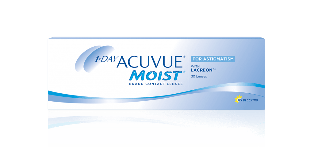 1-DAY ACUVUE® Moist para Astigmatismo