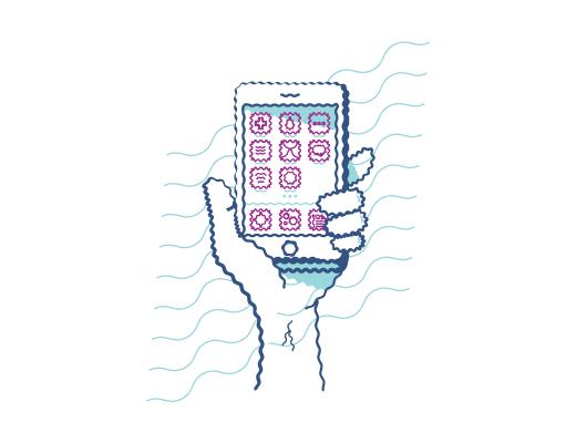 Icono de teléfono móvil.